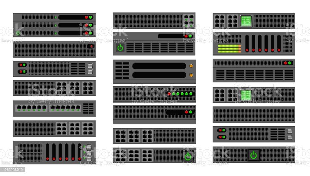 Computer for a crypto server computer for a crypto server - stockowe grafiki wektorowe i więcej obrazów bez ludzi royalty-free