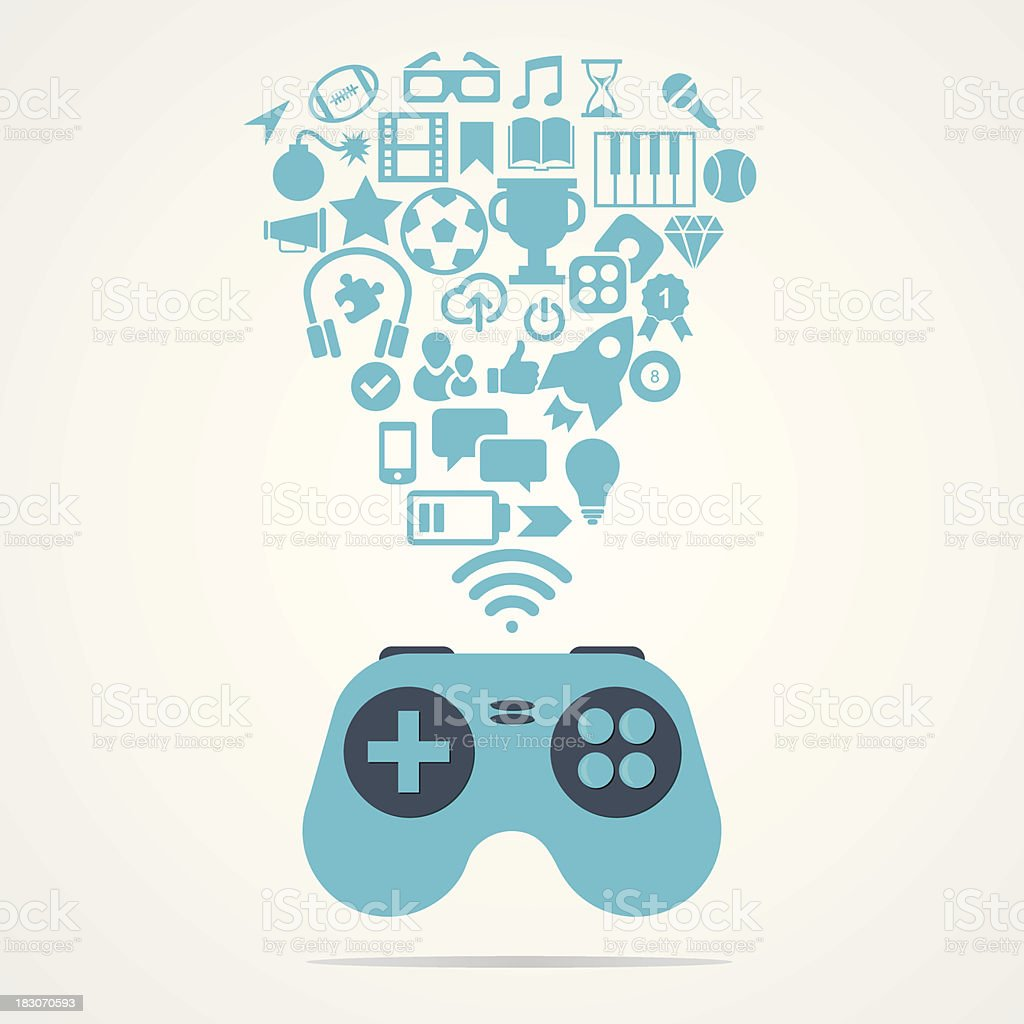 Computer game concept royalty-free computer game concept stock vector art & more images of computer