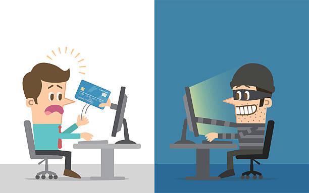 computer hacker - identity theft stock illustrations, clip art, cartoons, & icons