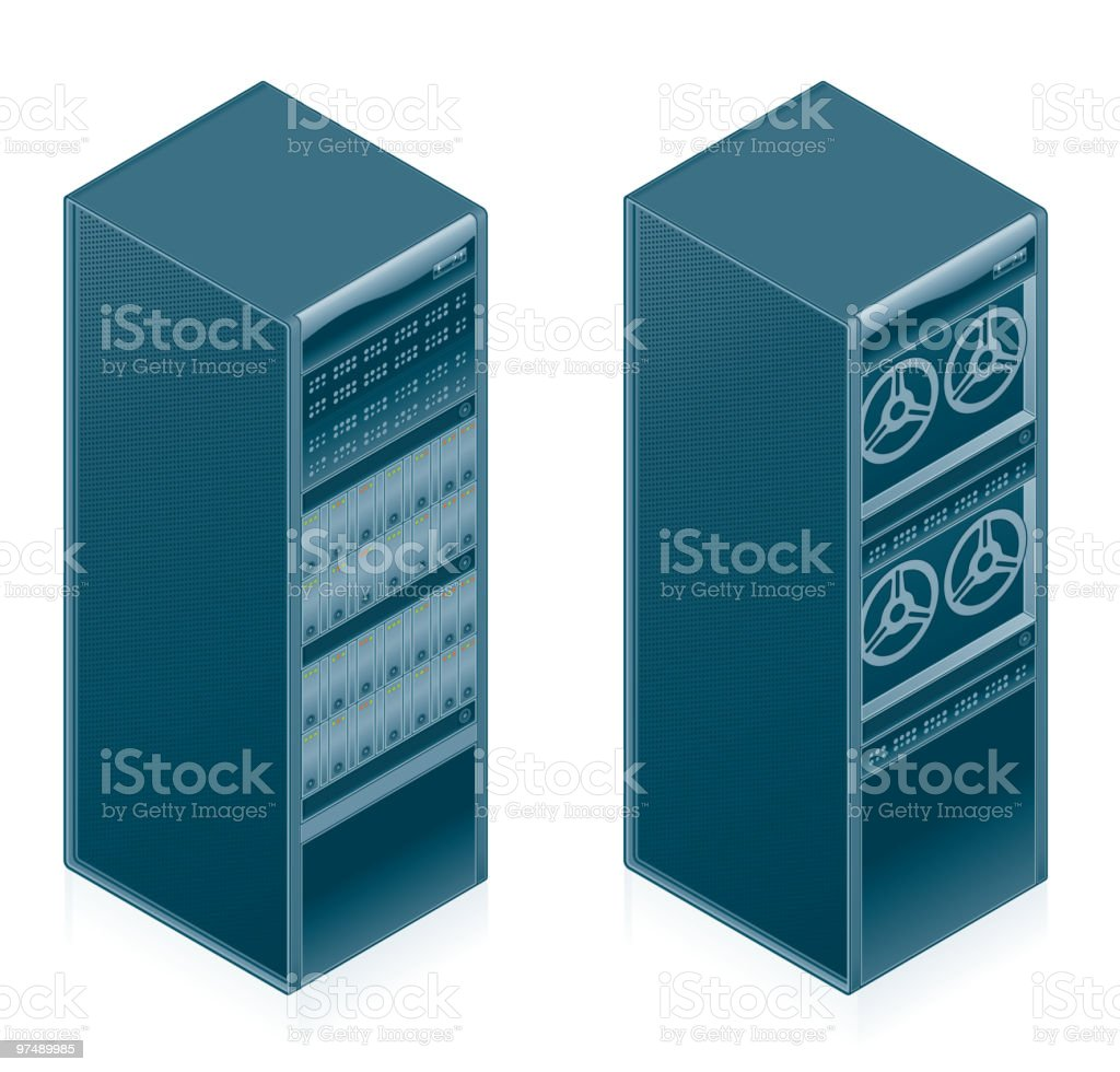 コンピューターハードウェアのアイコンを設定します。デザイン要素 ベクターアートイラスト