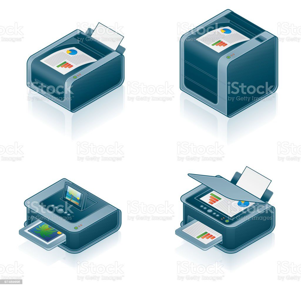 Computer Hardware Icons Set. Design Elements royalty-free computer hardware icons set design elements stock vector art & more images of color image