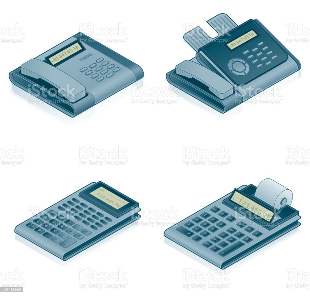 Computer Hardware Icons Set - Design Elements royalty-free computer hardware icons set design elements stock vector art & more images of calculator