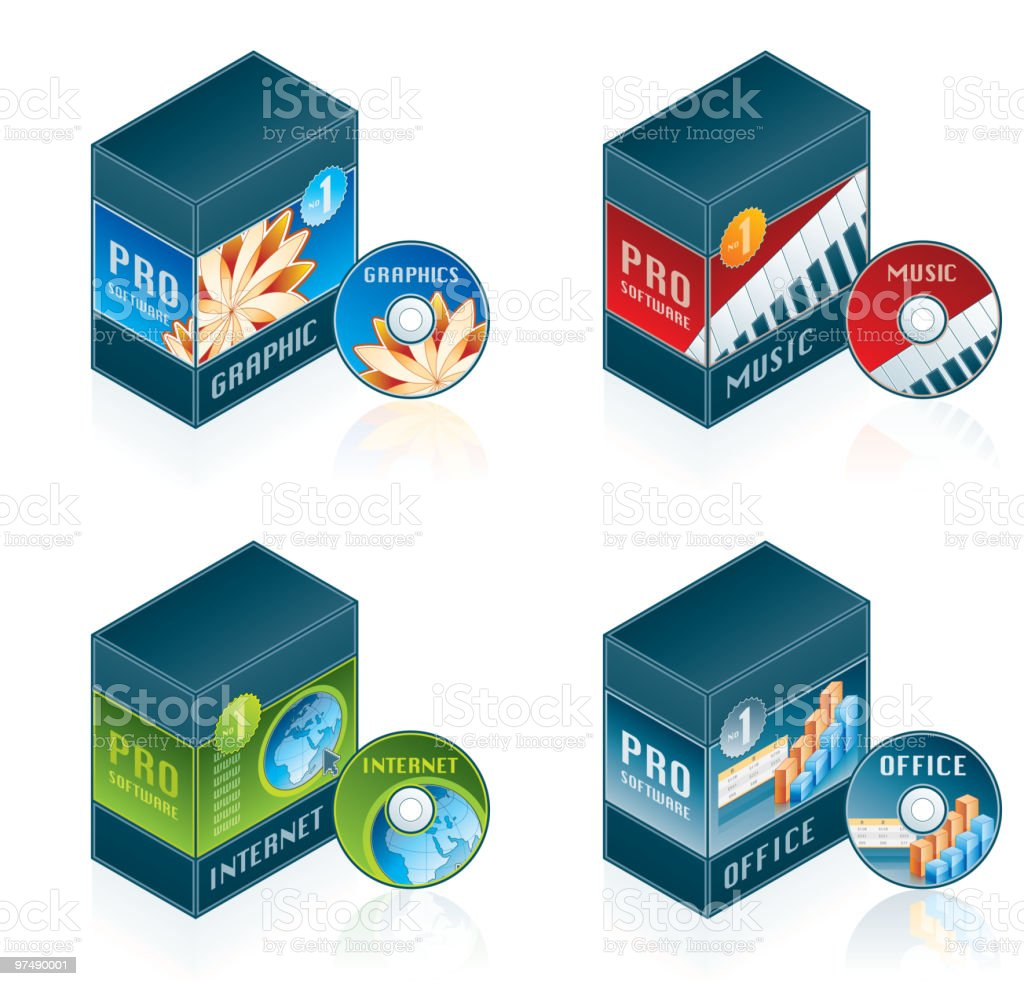 Computer Hardware Icons Set. Design Elements royalty-free computer hardware icons set design elements stock vector art & more images of box - container