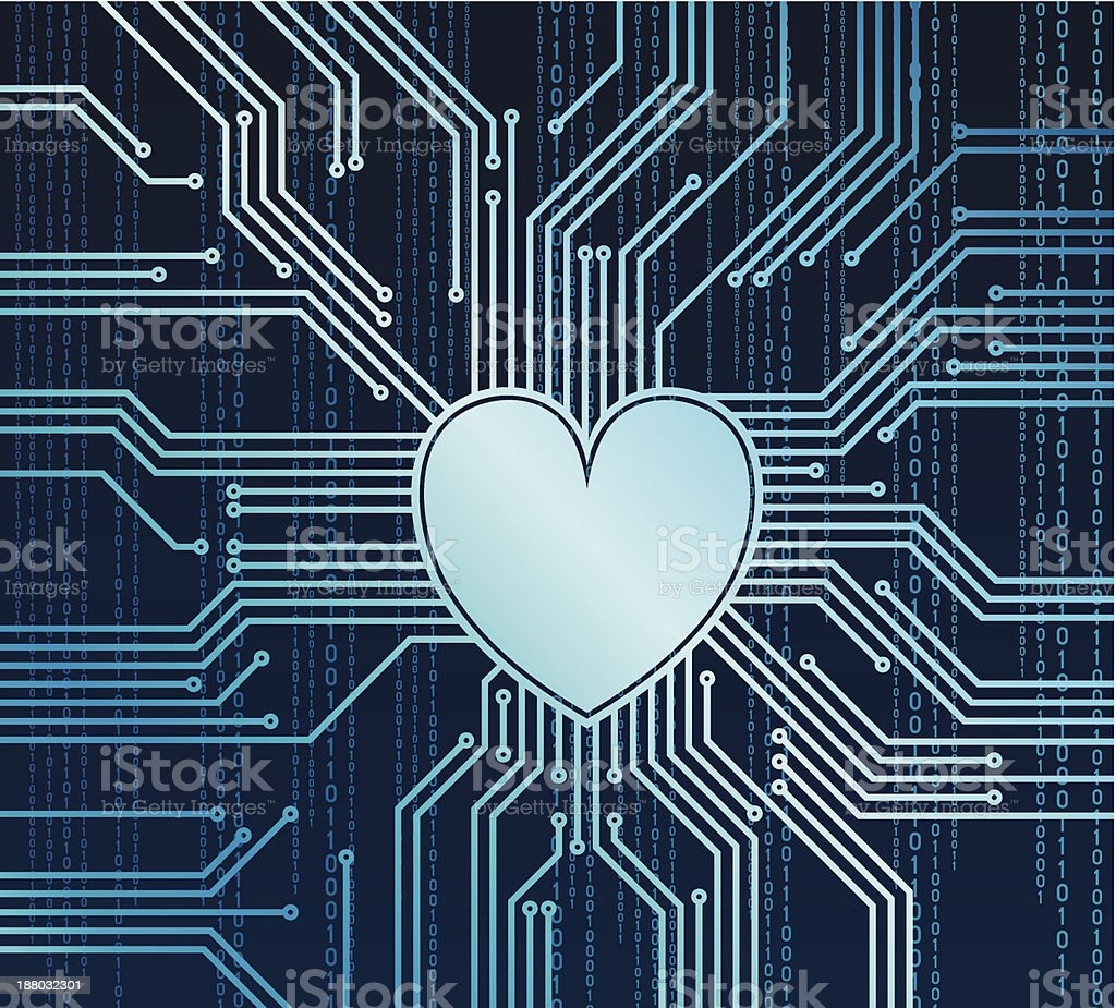 Computer heart royalty-free stock vector art