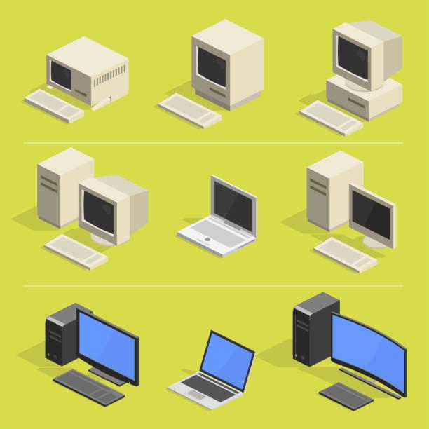 computer-geschichte 2 - turm bauwerk stock-grafiken, -clipart, -cartoons und -symbole