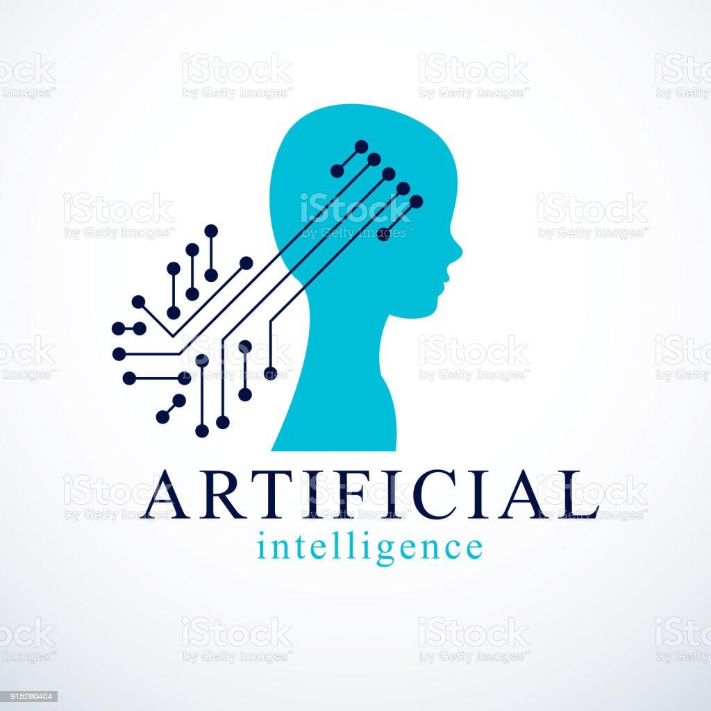 Ilustración de Humano Bot Android Computadora Concepto De ...