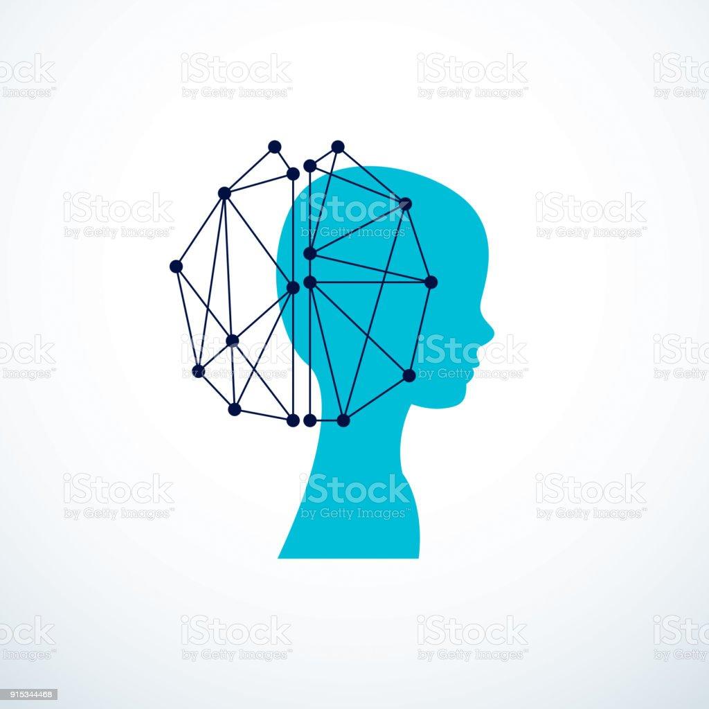 Humano Bot Android Computadora Concepto De Inteligencia Artificial ...