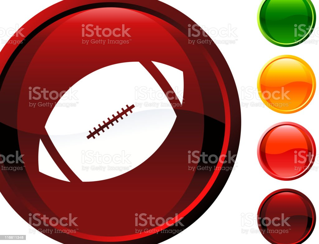 A computer icon in American football royalty-free stock vector art