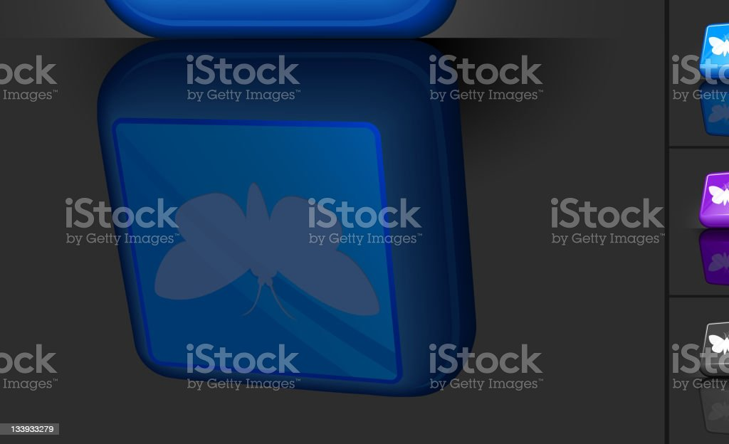 A computer icon of a moth in 3d royalty-free stock vector art