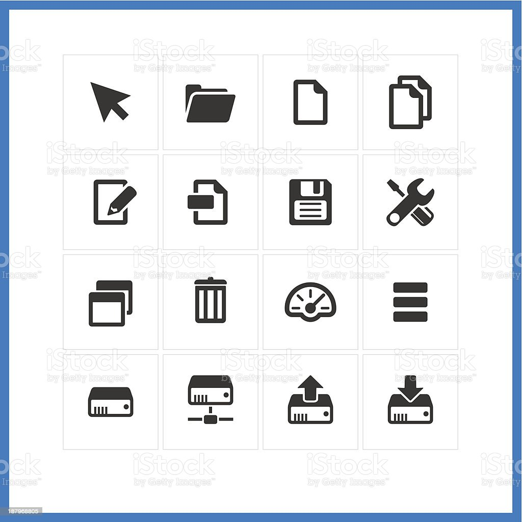 Computer icon set.