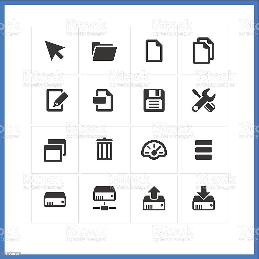 Computer icon set. vector art illustration