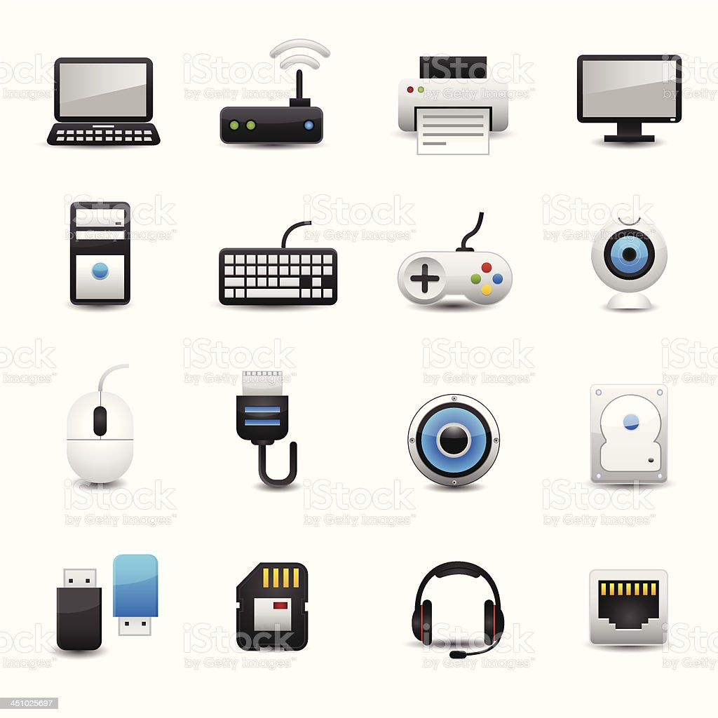 Computer Icon Set royalty-free stock vector art