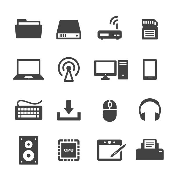 computer icon-acme series - pc stock-grafiken, -clipart, -cartoons und -symbole