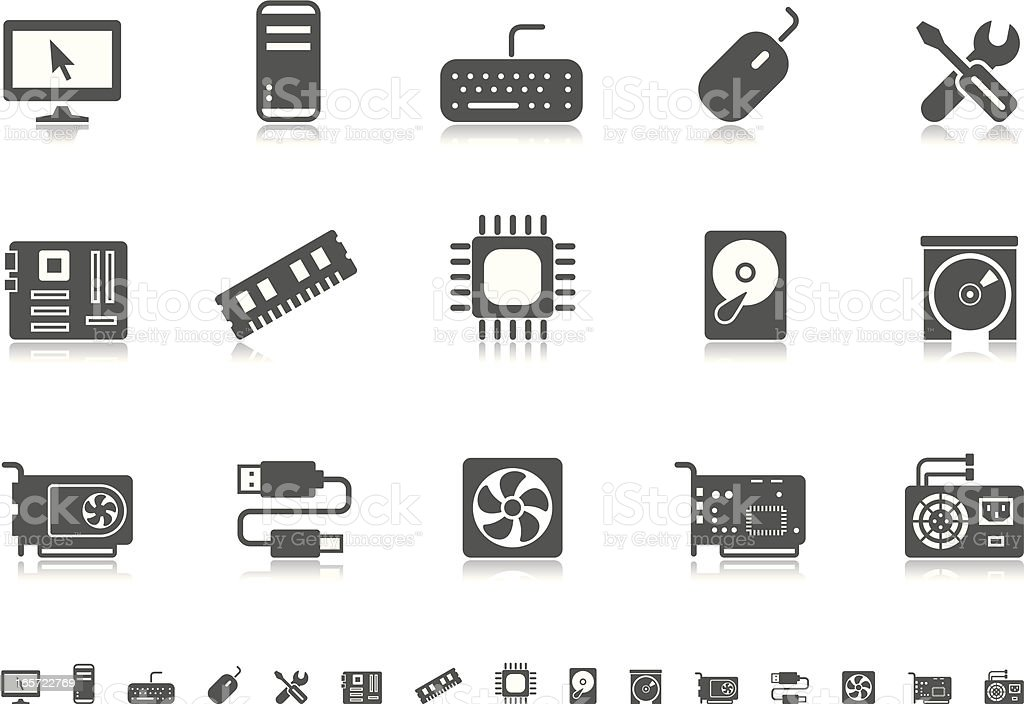 Computer icons | Pictoria series vector art illustration