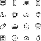 Computer icons - Regular Outline Vector EPS File.