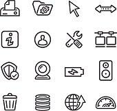 Computer Icons Set - Line Series
