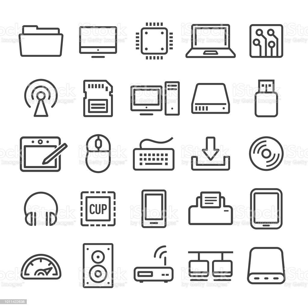 Computer Icons Set - Smart Line Series