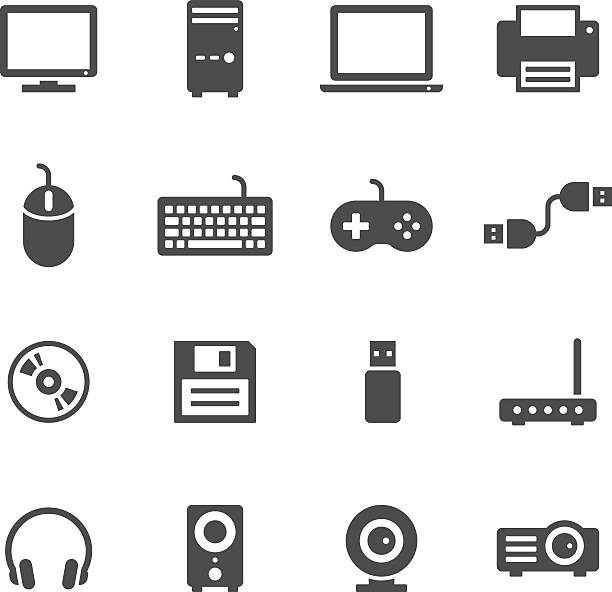 computer icons - computer keyboard stock illustrations, clip art, cartoons, & icons