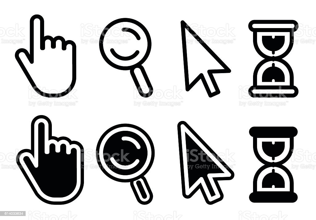 Computer Icons vector art illustration
