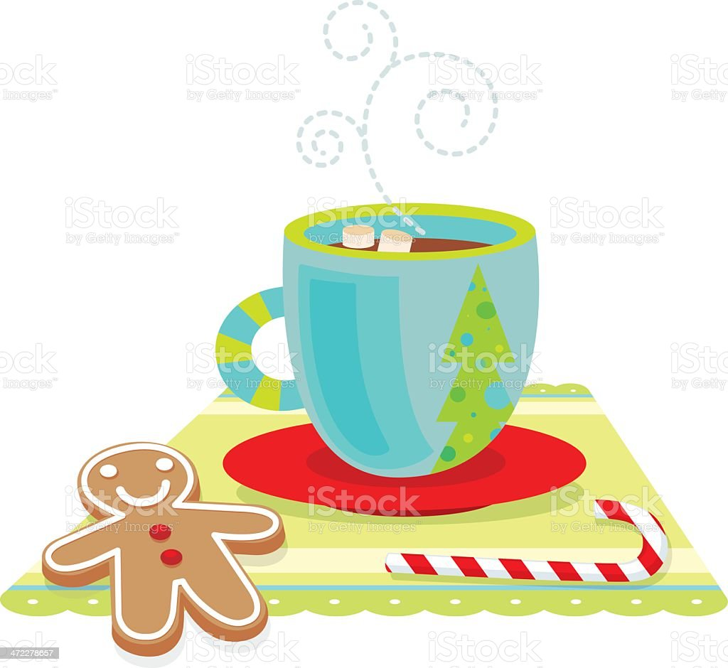 Computer illustration of holiday treats with hot chocolate royalty-free computer illustration of holiday treats with hot chocolate stock vector art & more images of candy