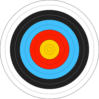 Computer image of an archery target