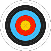istock Computer image of an archery target 149414839