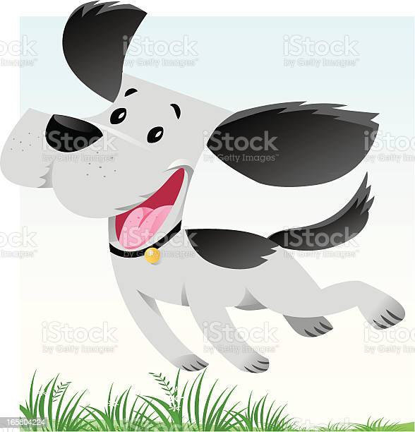 Computer image of happy dog jumping in grass vector id165804224?b=1&k=6&m=165804224&s=612x612&h=kte3gupvjppmrsqct6l hrtfgn acek27oqfwoz5jh0=