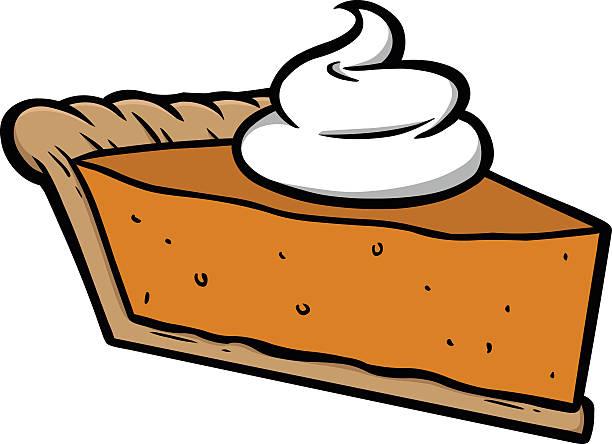 computer image of pumpkin pie with whipped cream on top - pumpkin pie 幅插畫檔、美工圖案、卡通及圖標