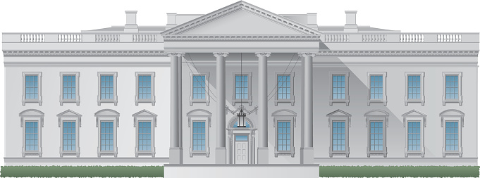 Computer image of the White House