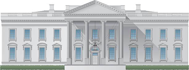 ilustraciones, imágenes clip art, dibujos animados e iconos de stock de casa blanca - white house