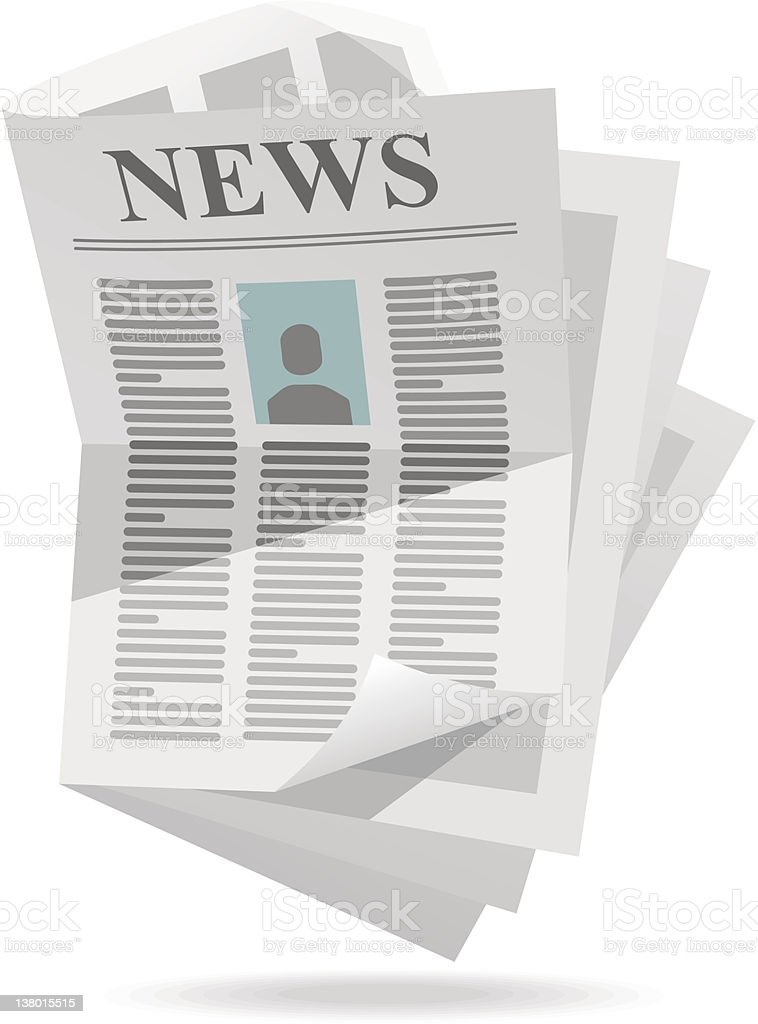 Computer image of unorganized newspaper royalty-free stock vector art