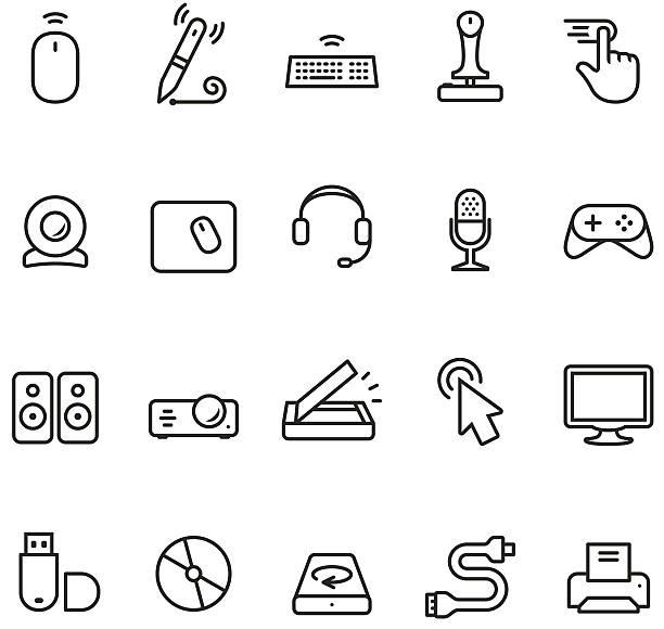 computer-input und teil-symbol - mauspad stock-grafiken, -clipart, -cartoons und -symbole