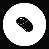 computer input mouse peripheral simple black icon eps10