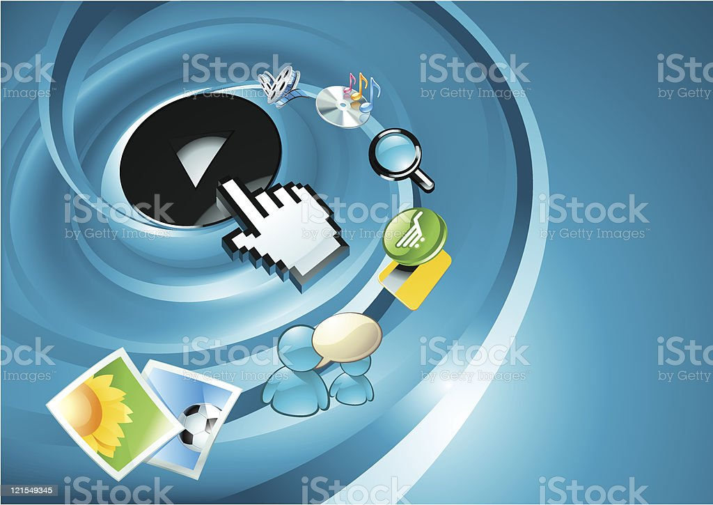 Computer, internet, entertainment concept, vector royalty-free computer internet entertainment concept vector stock vector art & more images of backgrounds