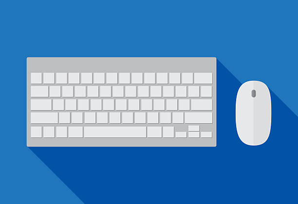 Computer Keyboard and Mouse Vector illustration of a computer keyboard and mouse. computer keyboard stock illustrations