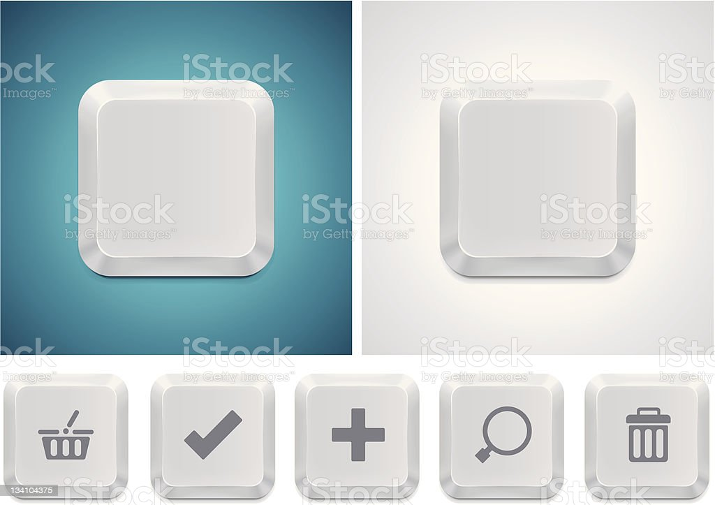 Computer keyboard button square icon