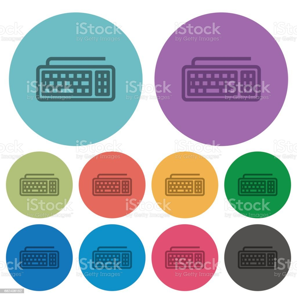 Computer keyboard color flat icons royalty-free computer keyboard color flat icons stock vector art & more images of alphabet