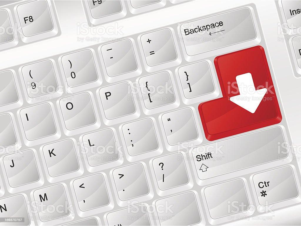 computer keyboard download royalty-free stock vector art