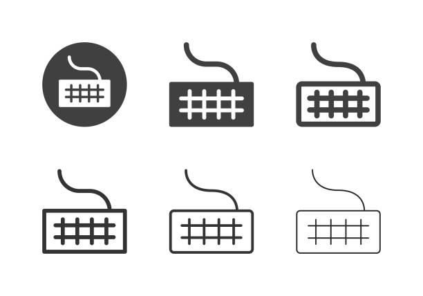 Computer Keyboard Icons - Multi Series vector art illustration