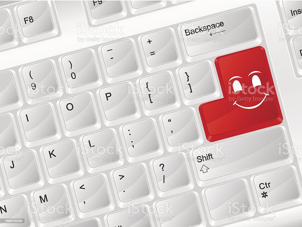 Computer Keyboard Smile Face Symbol Stock Vector Art More Images