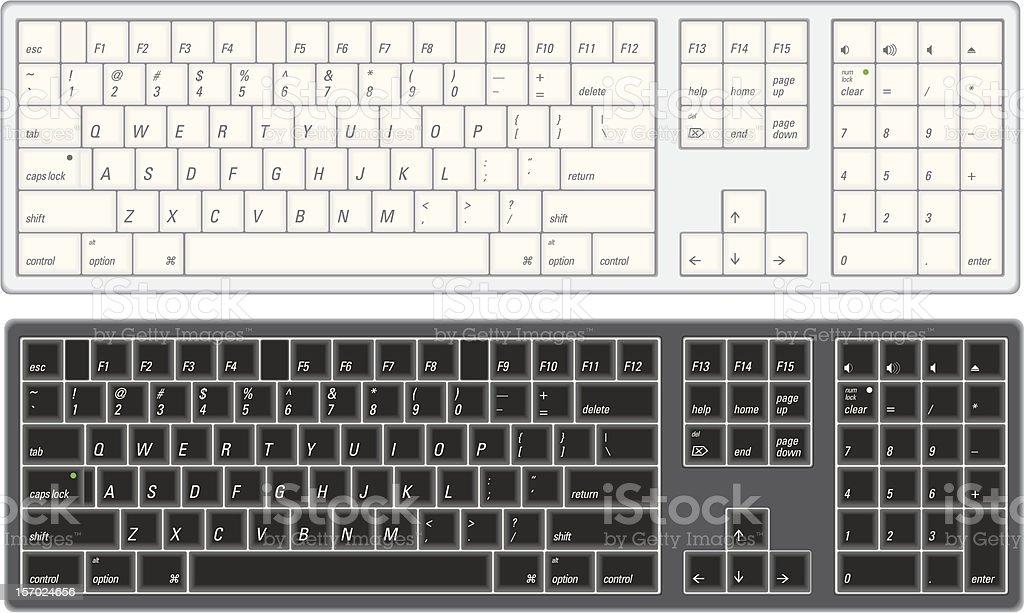 Computer Keyboard vector art illustration