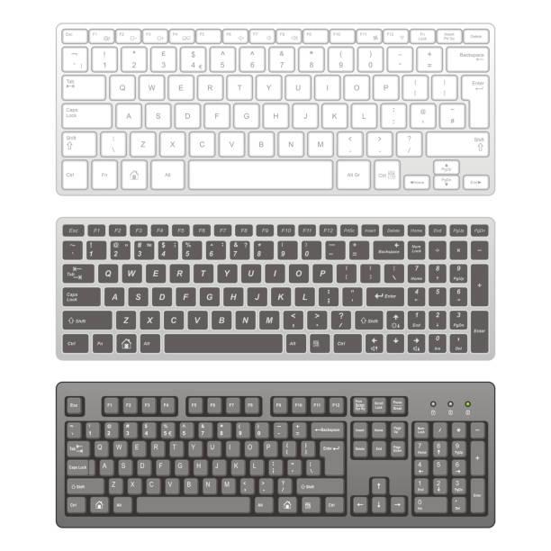 コンピュータキーボード - コンピュータキーボード点のイラスト素材/クリップアート素材/マンガ素材/アイコン素材