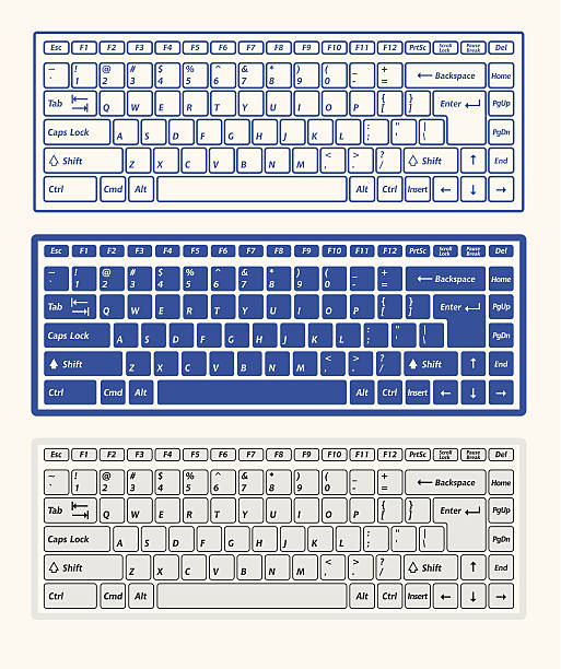 computer keyboards - computer keyboard stock illustrations, clip art, cartoons, & icons