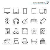istock Computer line icons. Editable stroke. Pixel perfect. 846629894