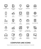 Computer Line Icons Vector EPS 10 File, Pixel Perfect Icons.