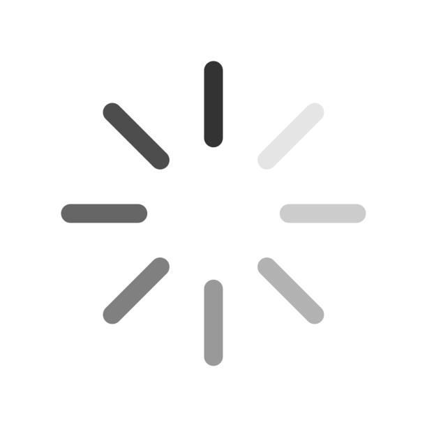 컴퓨터 로딩 아이콘 발크 및 흰색 배경 - gif stock illustrations