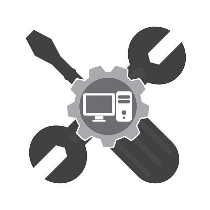 Icône De Vecteur De La Maintenance Informatique Vecteurs libres de droits  et plus d'images vectorielles de Icône - iStock