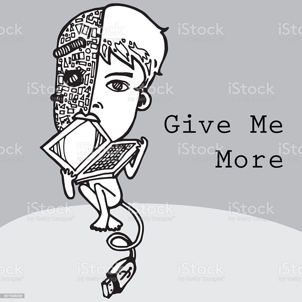 computer man cartoon vector character Lizenzfreies computer man cartoon vector character stock vektor art und mehr bilder von abstrakt