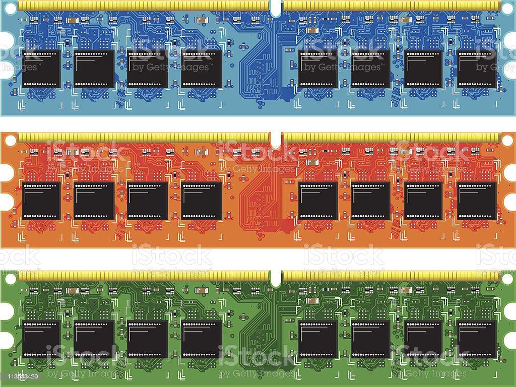 computer memory royalty-free stock vector art