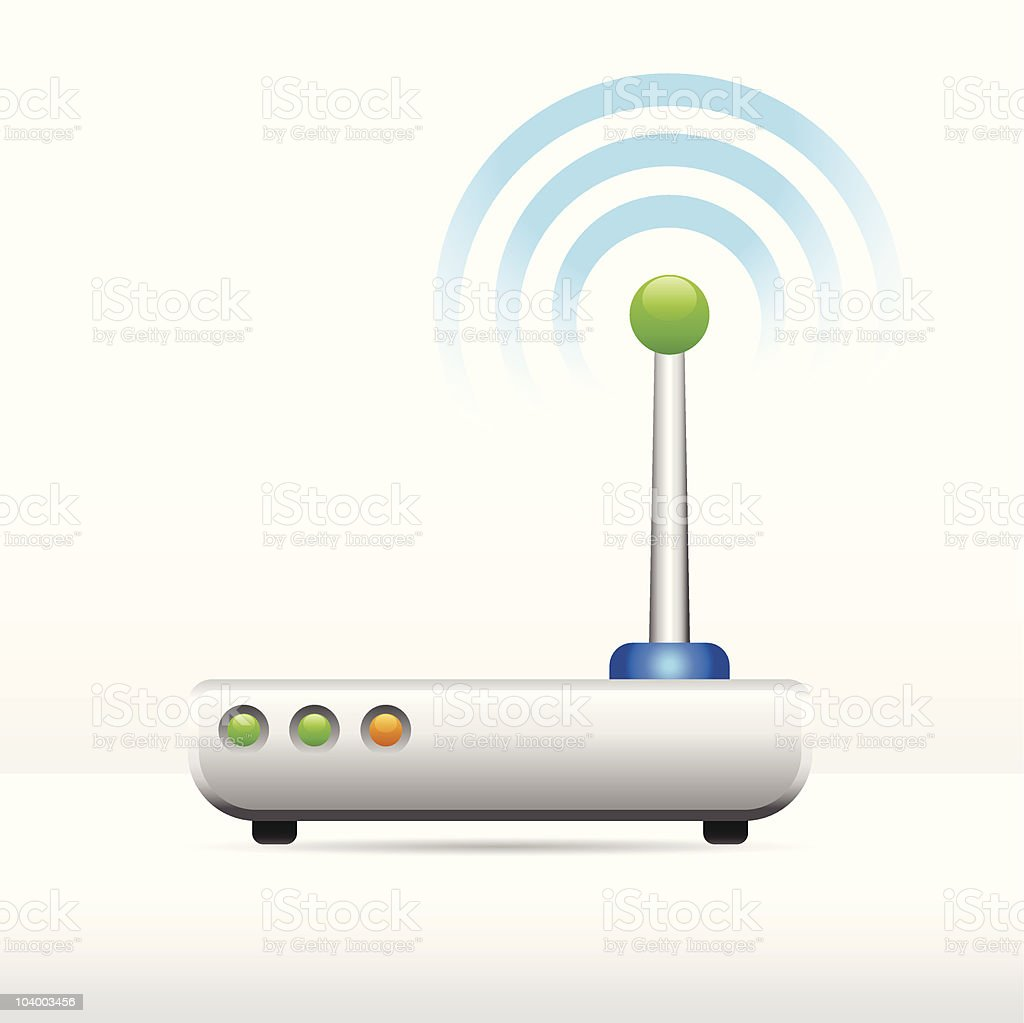 Computer modem antenna signal image royalty-free computer modem antenna signal image stock vector art & more images of antenna - aerial